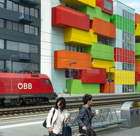 Vienna to Salzburg by train - railside scene