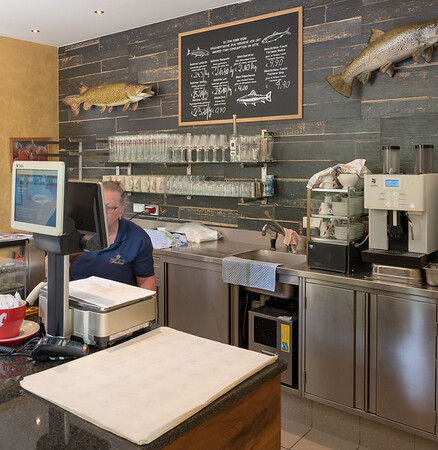 Lake Fuschlsee - smoked fish for sale