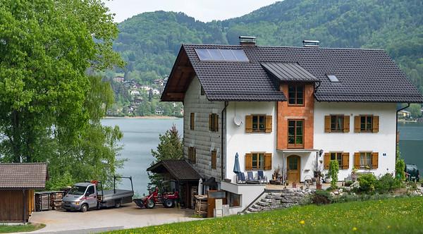 Austrian road scene - Lake Fuschlsee