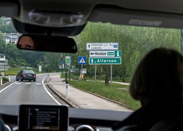 Austrian road scene - Mondsee (Moon Lake)