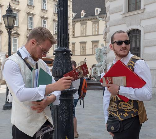 Vienna - Promoting concert in costume