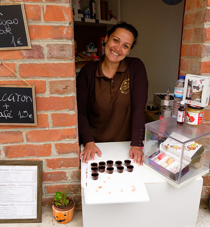 Obidos Portugal - chocolate cup with cherry liquor