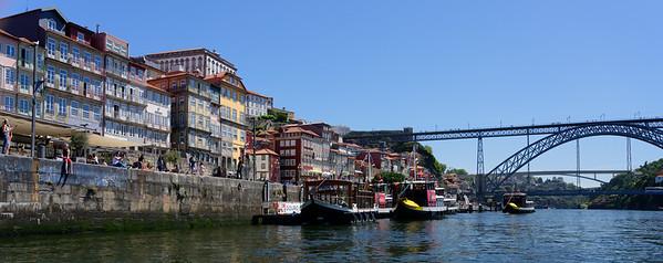 Porto Portugal - Dom Luís I Bridge with the Infante D. Henrique Bridge in the background