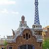 Barcelona Catalonia Spain – The Park Güell entrance buildings