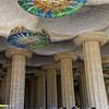 Barcelona Catalonia Spain – The Park Güell, Hypostyle Hall