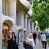 Barcelona Catalonia Spain – Casa Milà showing the undulating self-supporting stone façade.