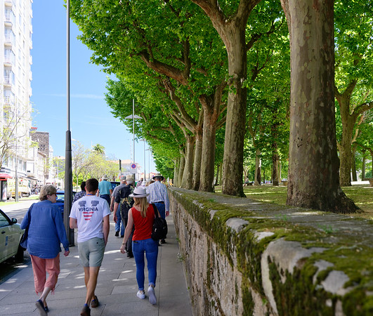 Pontevedra Galicia Spain - large park area in the center of town