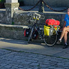 Santiago de Compostela Galicia Spain - tired biker
