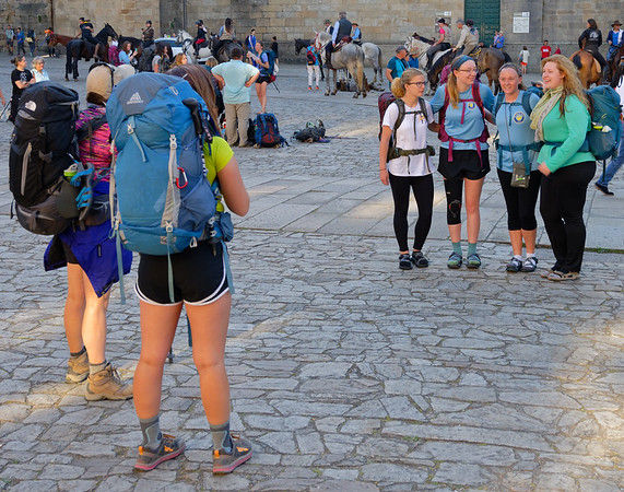 Santiago de Compostela Spain - Groups posing