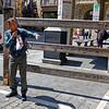 "Pamplona Navarre Spain – Fernando explains the ""encierro"""