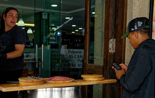 Pontevedra Galicia Spain - lunch at the pulperia (pulpo = octopus)