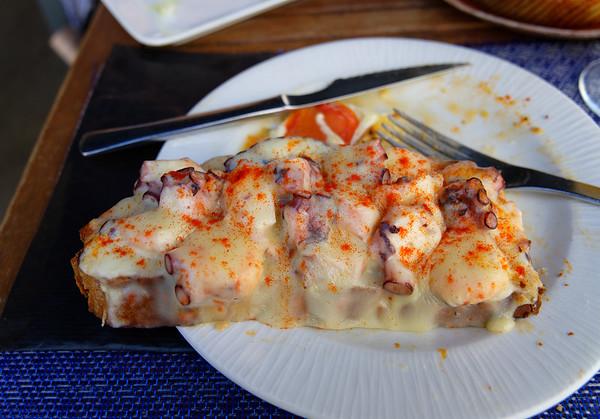 Pontevedra Galicia Spain - pulpo pizza