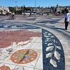 Lisbon Portugal - mosaic map and Jeronimos Monastery