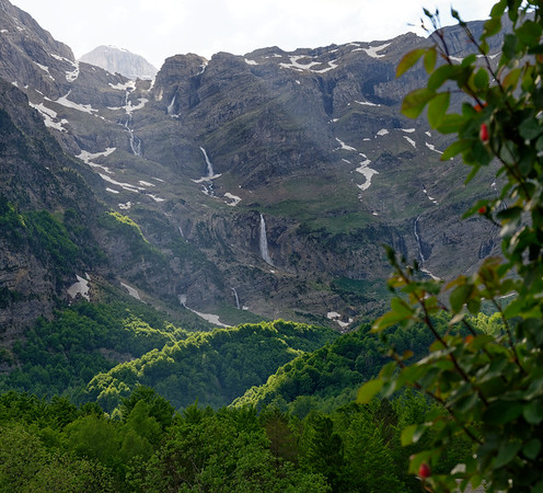 Parador de Bielsa, Aragon, Spain - many waterfalls