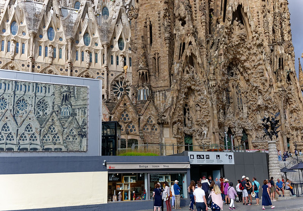 Barcelona Catalonia Spain – La Sagrada Familia entrance