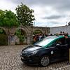 Obidos Portugal - ubiquitous black/green cab