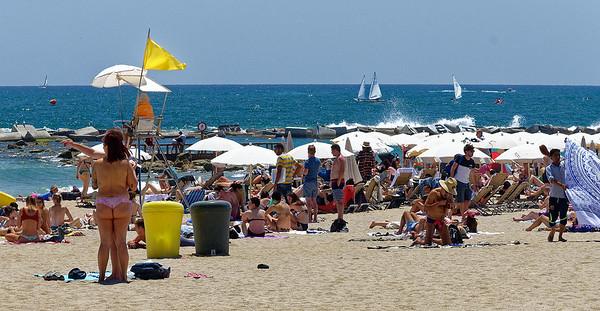 Barcelona Catalonia Spain – Barceloneta Beach