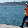 Lisbon Portugal - Dave takes in the scenery