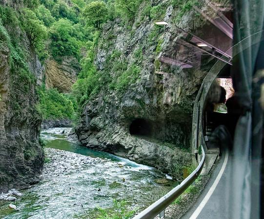 Tunnel along the Rio Cinca, Spain