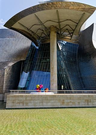 Bilbao, Basque Country, Spain Guggenheim - Tulips