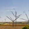 near León, Castile and León, Spain - windmills and sculptures