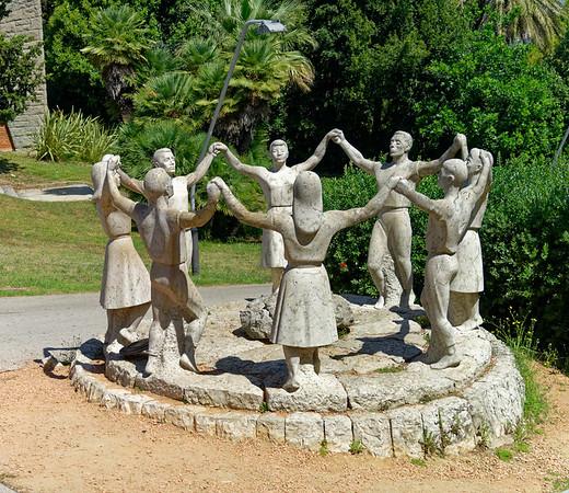 Barcelona Catalonia Spain – Monumento a La Sardana at Olympic Park