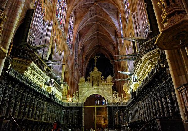 León, Castile and León, Spain - Santa María de León Cathedral