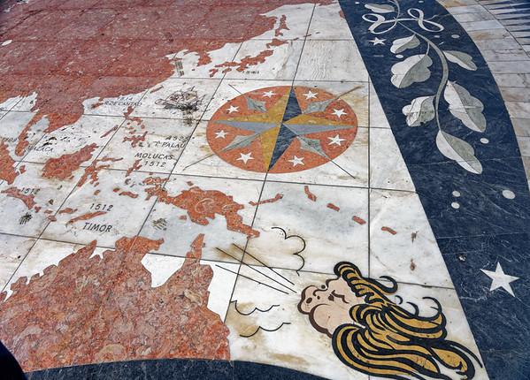 Lisbon Portugal - mosaic map detail
