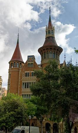 Barcelona Catalonia Spain - The Casa de les Punxes or Casa Terradas