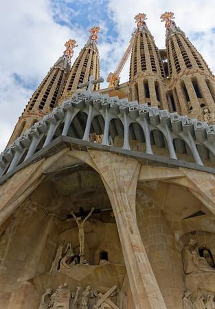 Barcelona Catalonia Spain – La Sagrada Família, the Glory Façade