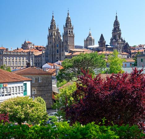 Santiago de Compostela Galicia Spain - Skyline