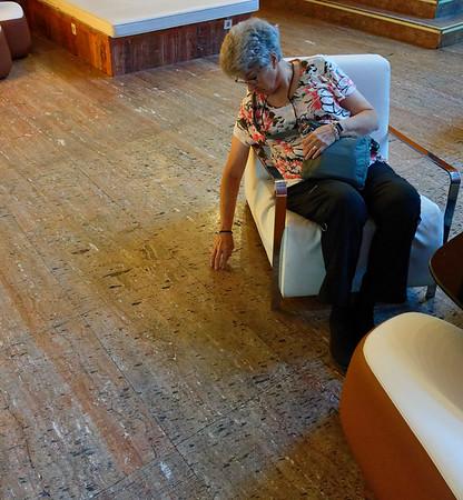 Meliá Bilbao Spain - floor looks like cork but is marble