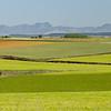 En route to Santander - rolling farmland and coastal mountains