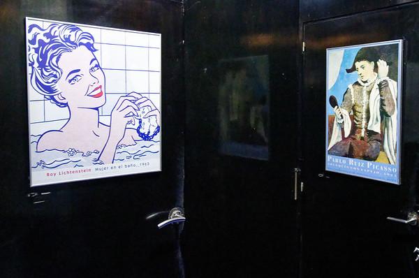 Pontevedra Galicia Spain - bathrooms in the pulperia