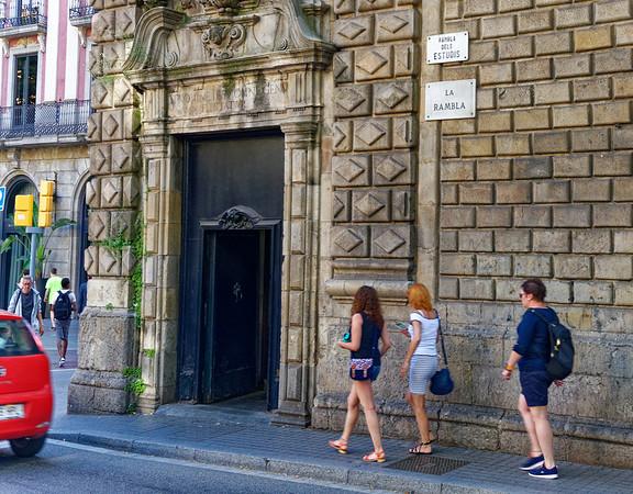 Barcelona Catalonia Spain – La Rambla downhill to the Mediterranean