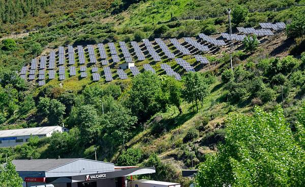 near Astorga, Castile and León, Spain - solar array