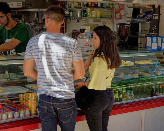 Lisbon Portugal - getting a snack