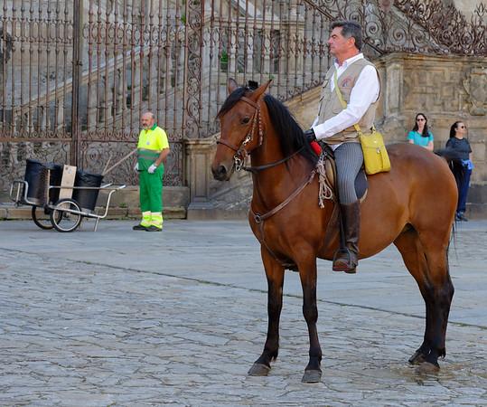 Santiago de Compostela Galicia Spain - Galician riding club Cleanup on aisle 2