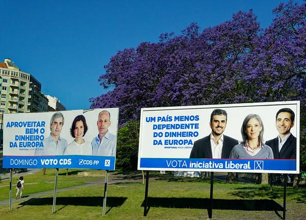 Lisbon Portugal - national elections