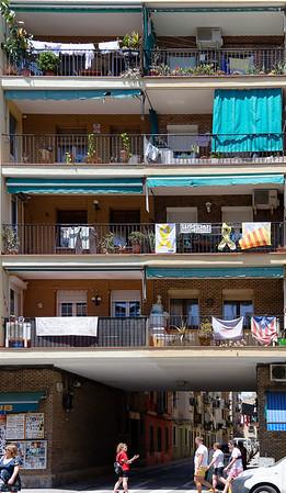 Barcelona Catalonia Spain – La Rambla near the beach