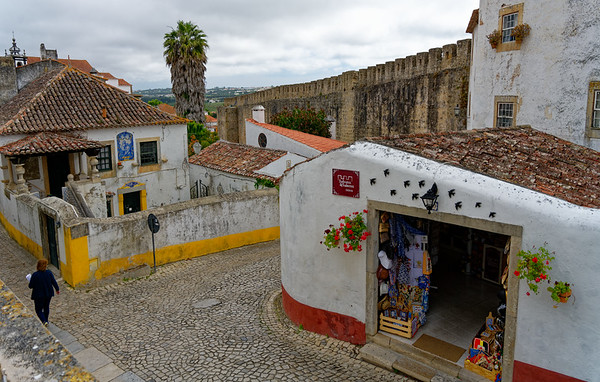 Obidos Portugal - remnants of the city wall