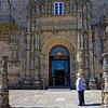 Santiago de Compostela Galicia Spain - Our parador entrance