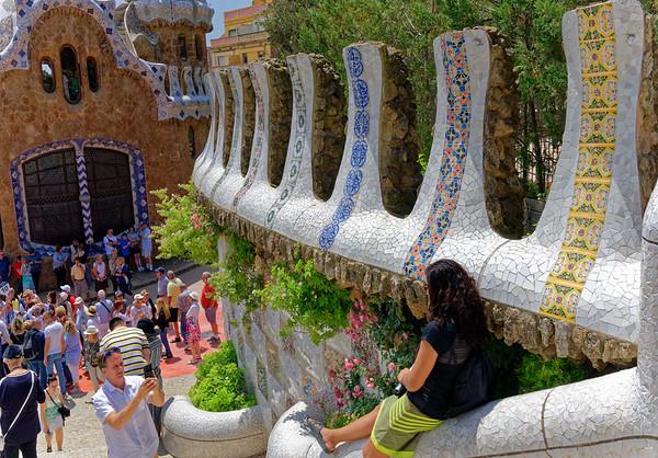 Barcelona Catalonia Spain – The Park Güell entrance
