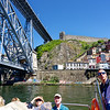 Porto Portugal - our guide George, the Dom Luis I Bridge and the medieval city walls