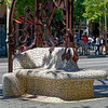 Barcelona Catalonia Spain – base of streetlamp