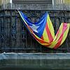 Barcelona Catalonia Spain – protest flag