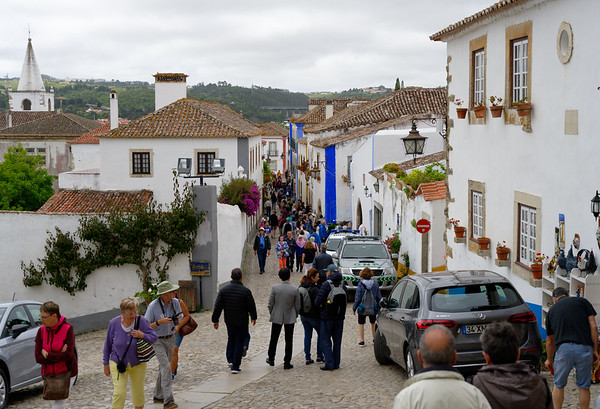 Obidos Portugal - narrow streets, popular town