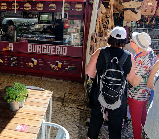 Lisbon Portugal - shopping for purses or burgers
