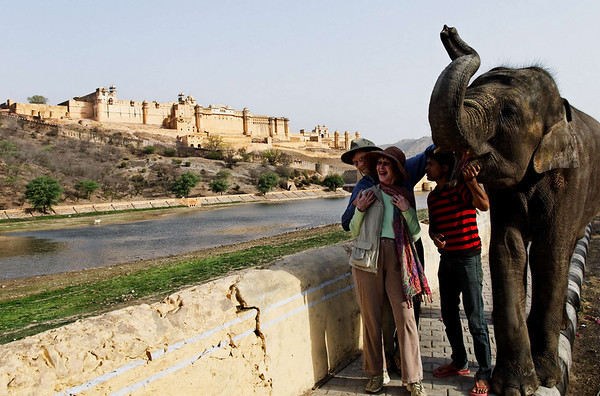 Henry, Diana, and friends, Amber Fort, Jaipur