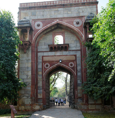 Grand Gateway to tomb garden of Bu Halima, Delhi